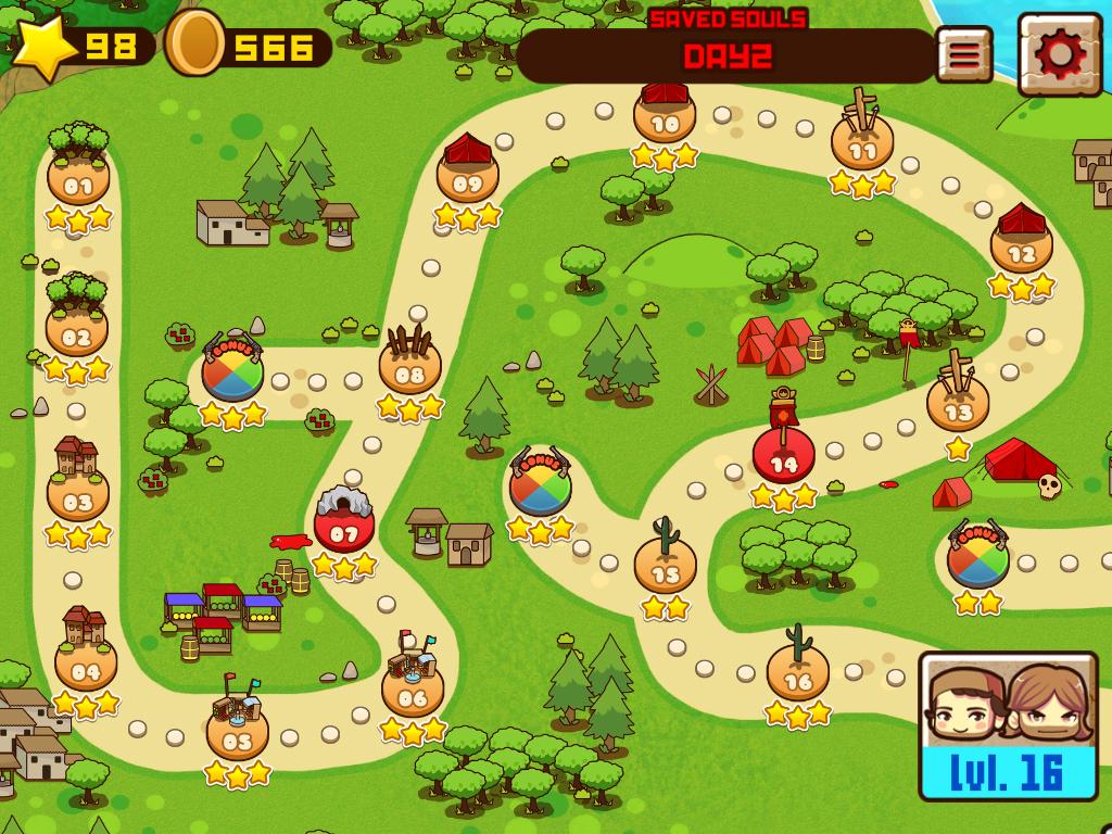 Parte del mapa del juego