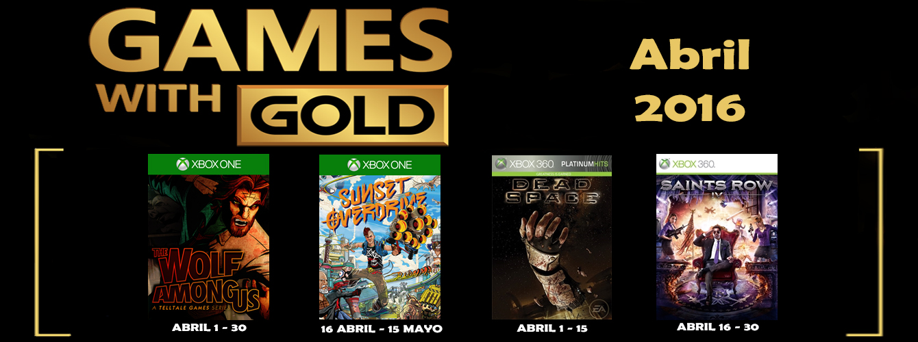 Games With Gold Banner Abril 2016 banner