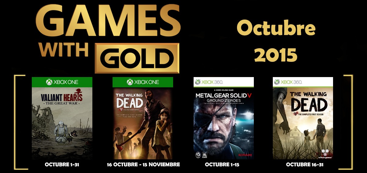 Games With Gold Banner octubre 2015 banner