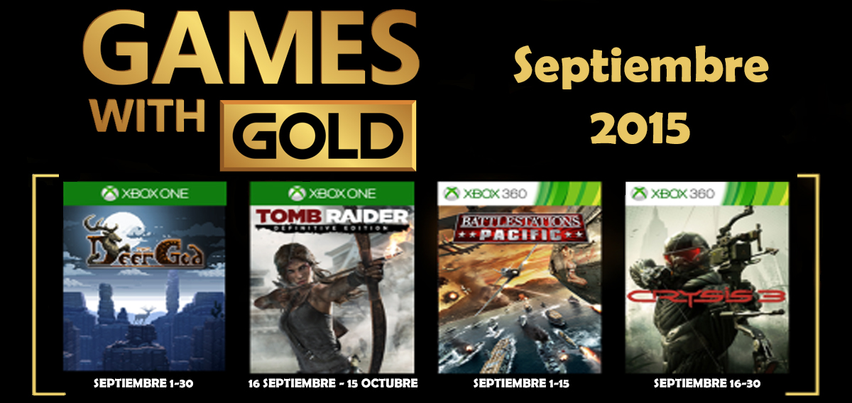 Games With Gold Banner septiembre 2015 banner