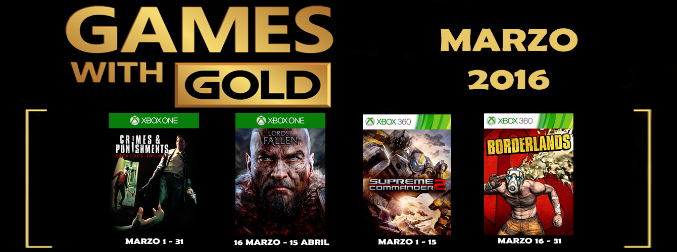 Games With Gold Marzo 2016 banner