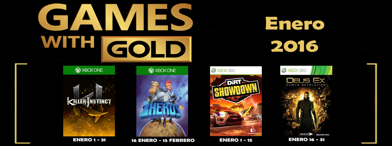 Games With Gold enero 2016 banner