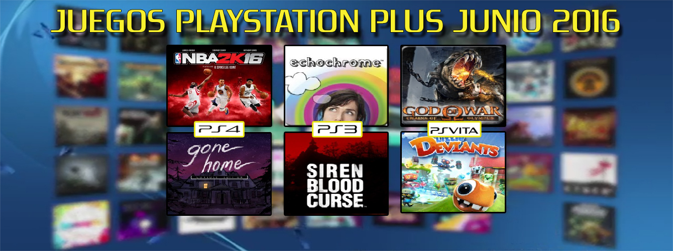 Playstation Plus Junio banner