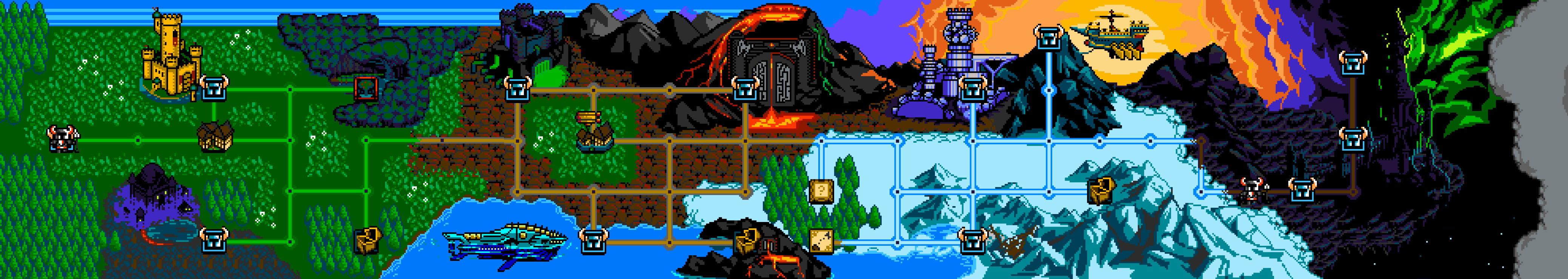 Shovel Knight Mapa completo