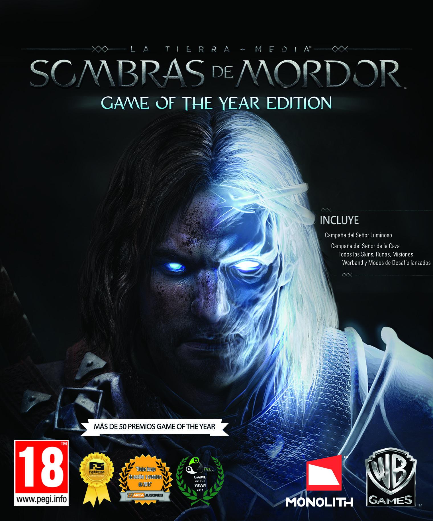 Sombras de Mordor GOTY