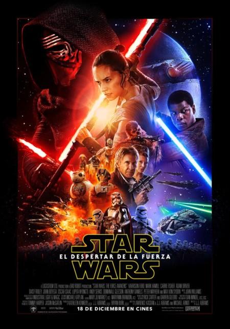 Star Wars Episodio VII El Despertar de la Fuerza cartel