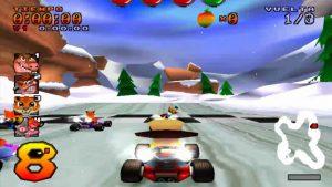 crash team racing - parque glaciar