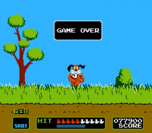 duck hunt - game over