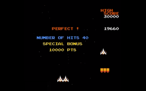 galaga - bonus stage perfect score