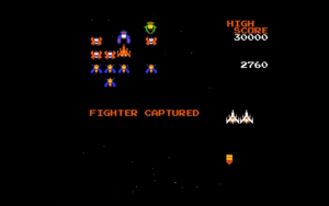 galaga - fighter captured