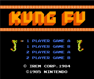kung-fu master - inicio