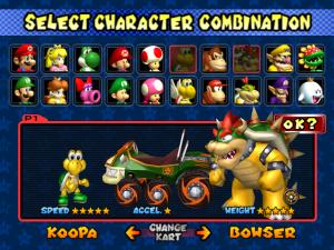 mario kart double dash - personajes