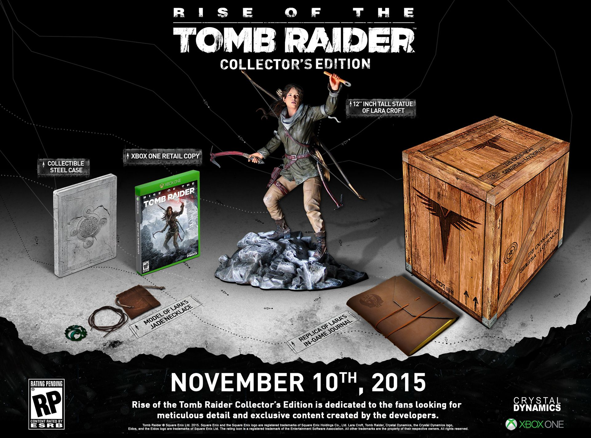 rise of the tomb raider edicion coleccionista - contenido