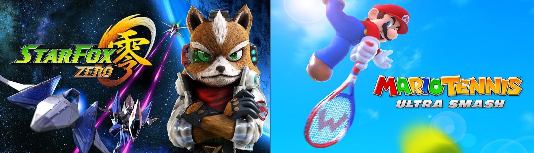 star fox zero - mario tennis ultra smash - banner