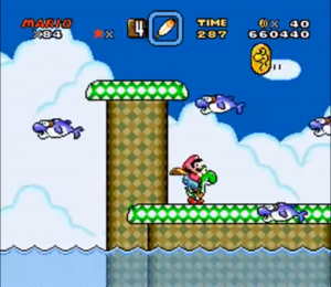 super mario world - gameplay