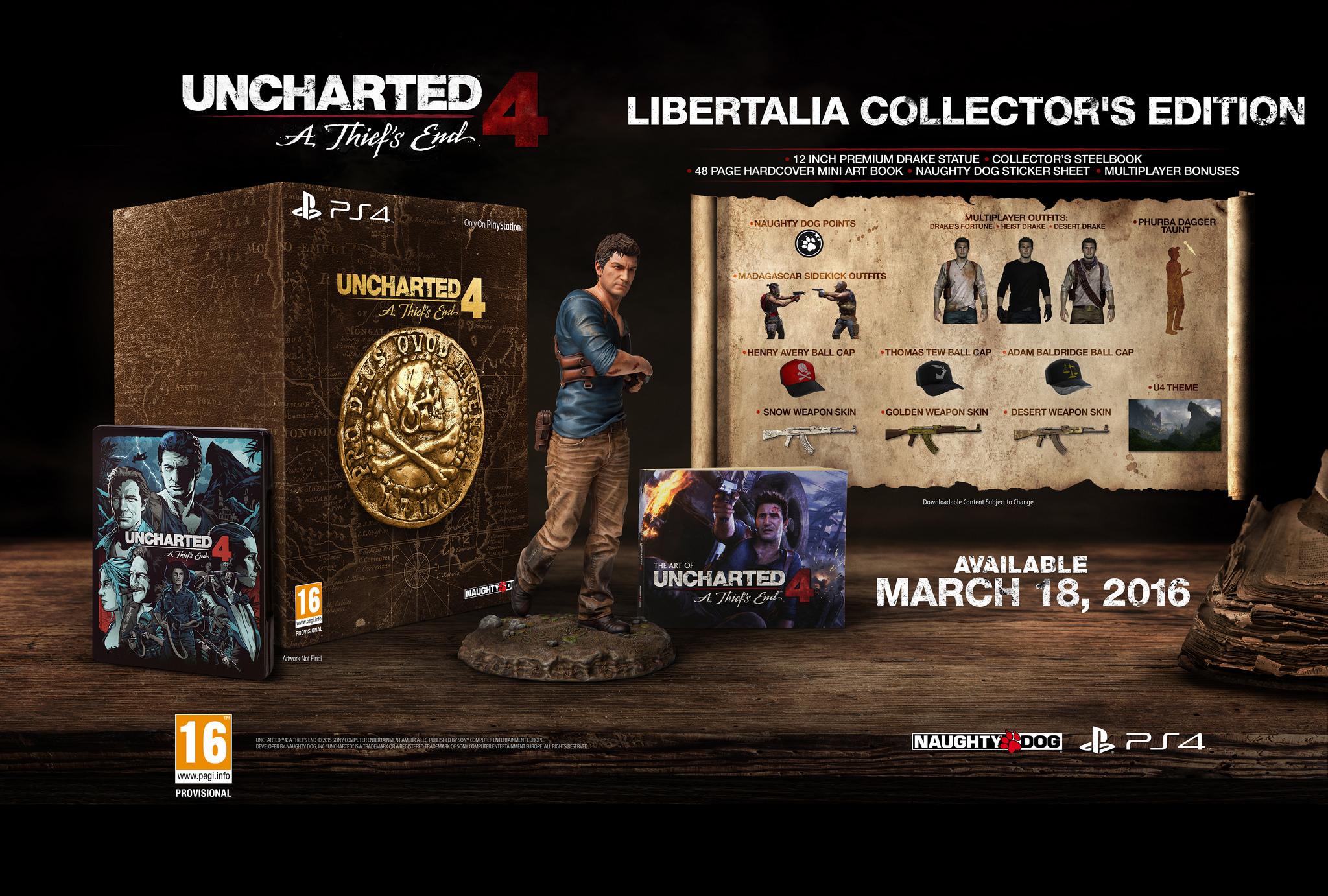 uncharted 4 - pack edicion coleccionista libertalia