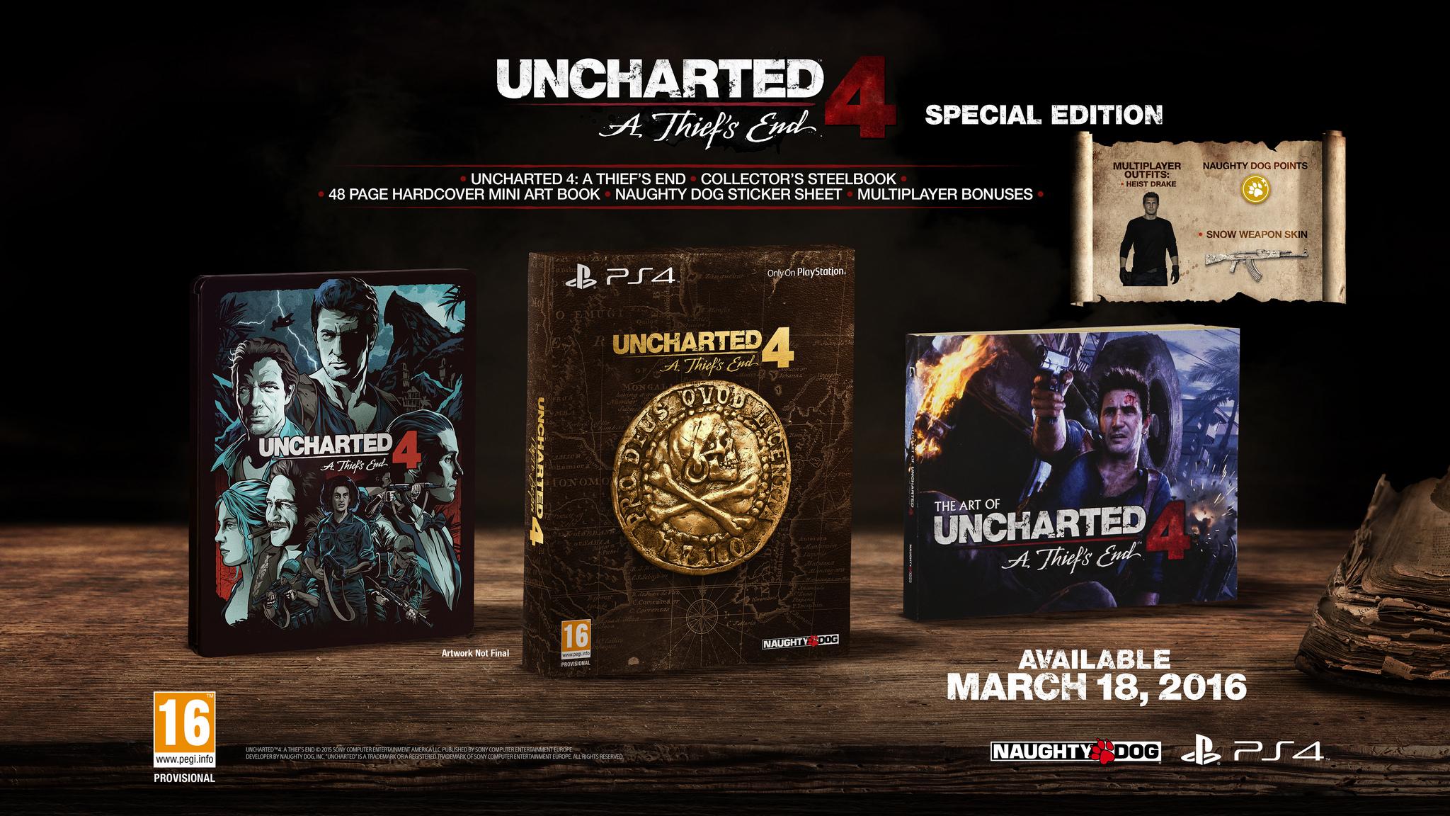 uncharted 4 - pack edicion especial